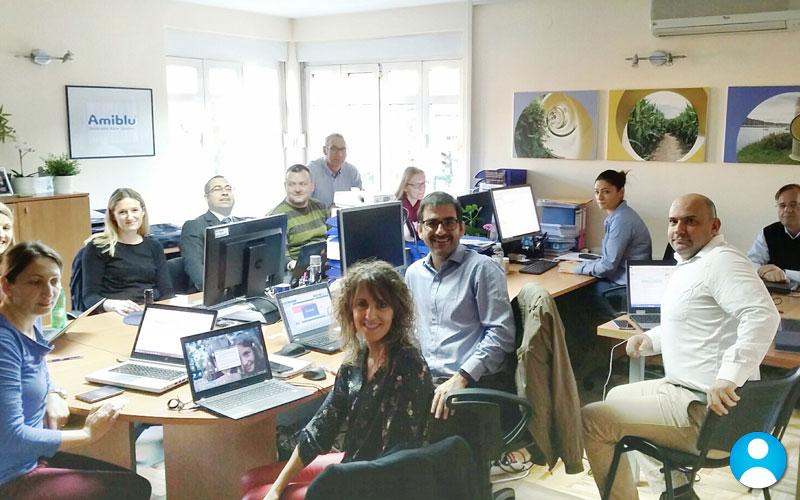 Amiblu employees CRM training