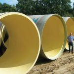 3 diameter Hobas pipe for wastewater project