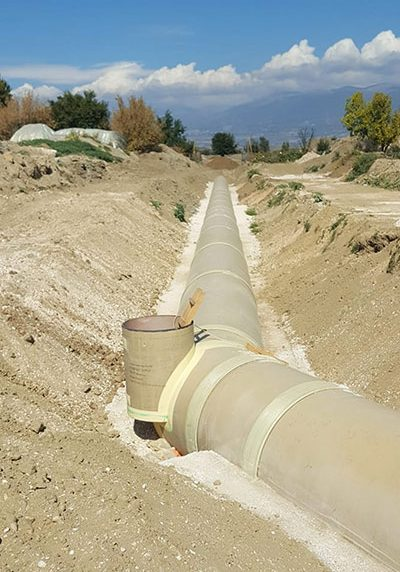 Amiblu GRP pipes installation Skopje Macedonia