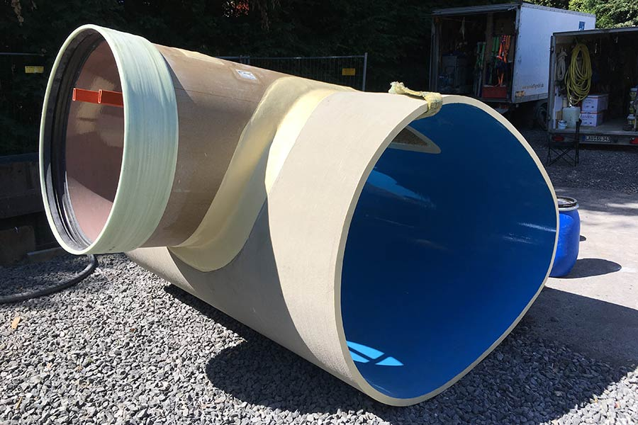 Amiblu NC Line pipe with circular inspection shaft