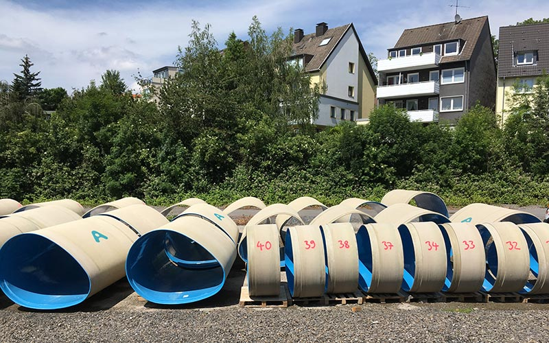Amiblu NC Line pipes in Essen, Germany