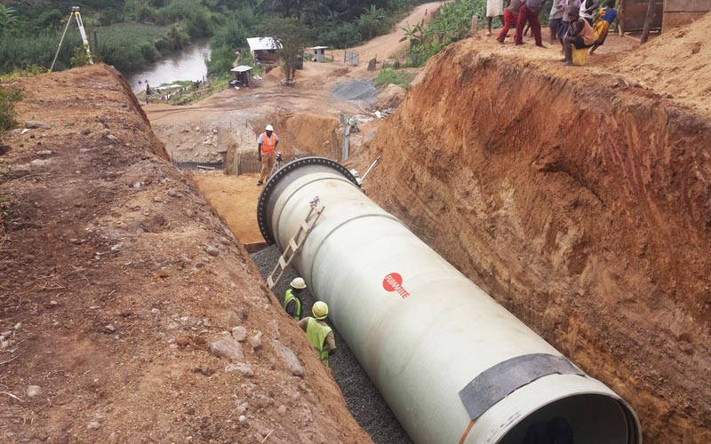 Amiblu penstock for hydropower plant in Western Uganda