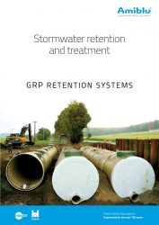 Amiblu GRP retention systems brochure cover