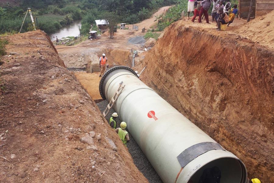 Amiblu hydropower pipeline Uganda
