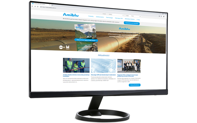 monitor screen Amiblu website Polish