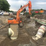installation of CC-GRP cross-drainge culvert in the Netherlands