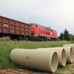 Flowtite GRP jacking pipes railway