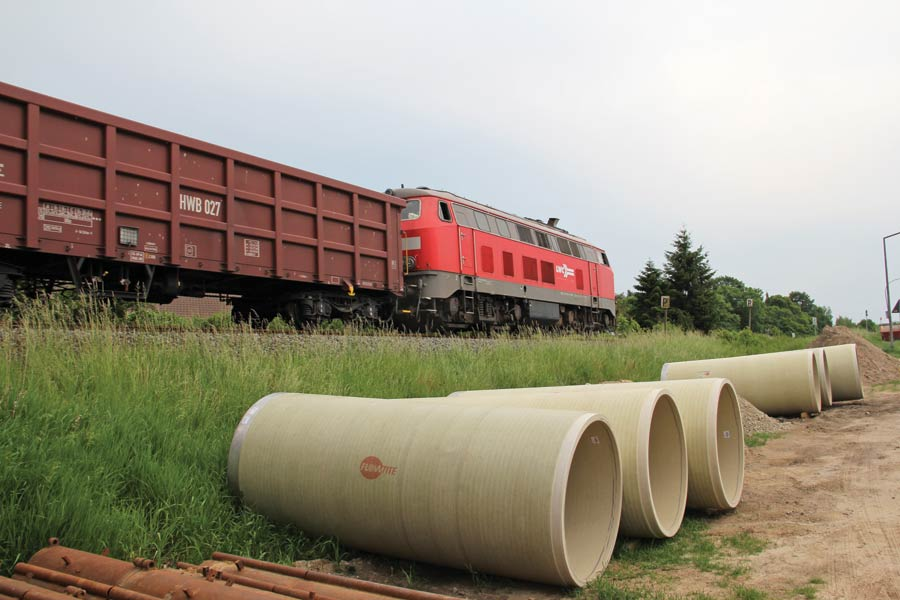 Flowtite GRP jacking pipes railway