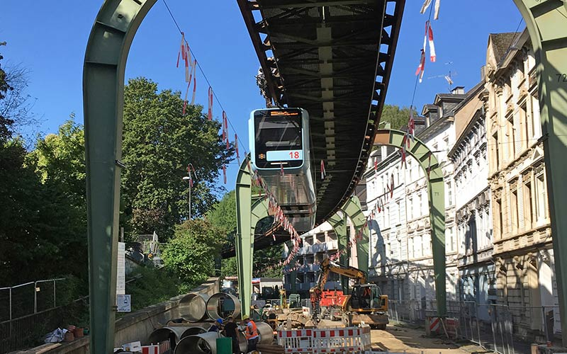 Flowtite GRP pipes installed below Wuppertal Suspension Railway