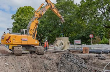 Flowtite Rohre mit Drachenprofil für Mischwasserkanal in Wilhelmshaven