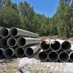 Flowtite pressure pipes for sewer discharge of Rio Tinto in Portugal