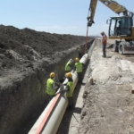 Flowtite pressure pipes installation for irrigation project in Algeria