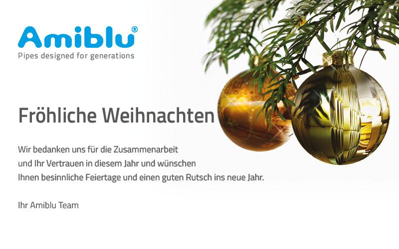 Fröhliche Weihnachten von Amiblu
