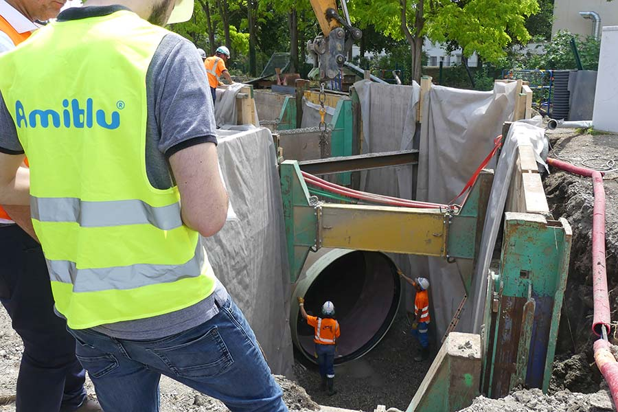 GRP pipes for modernization of combined sewer sysstem in France