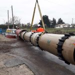 High-performance double sewer line with Hobas GRP in Eysines, France