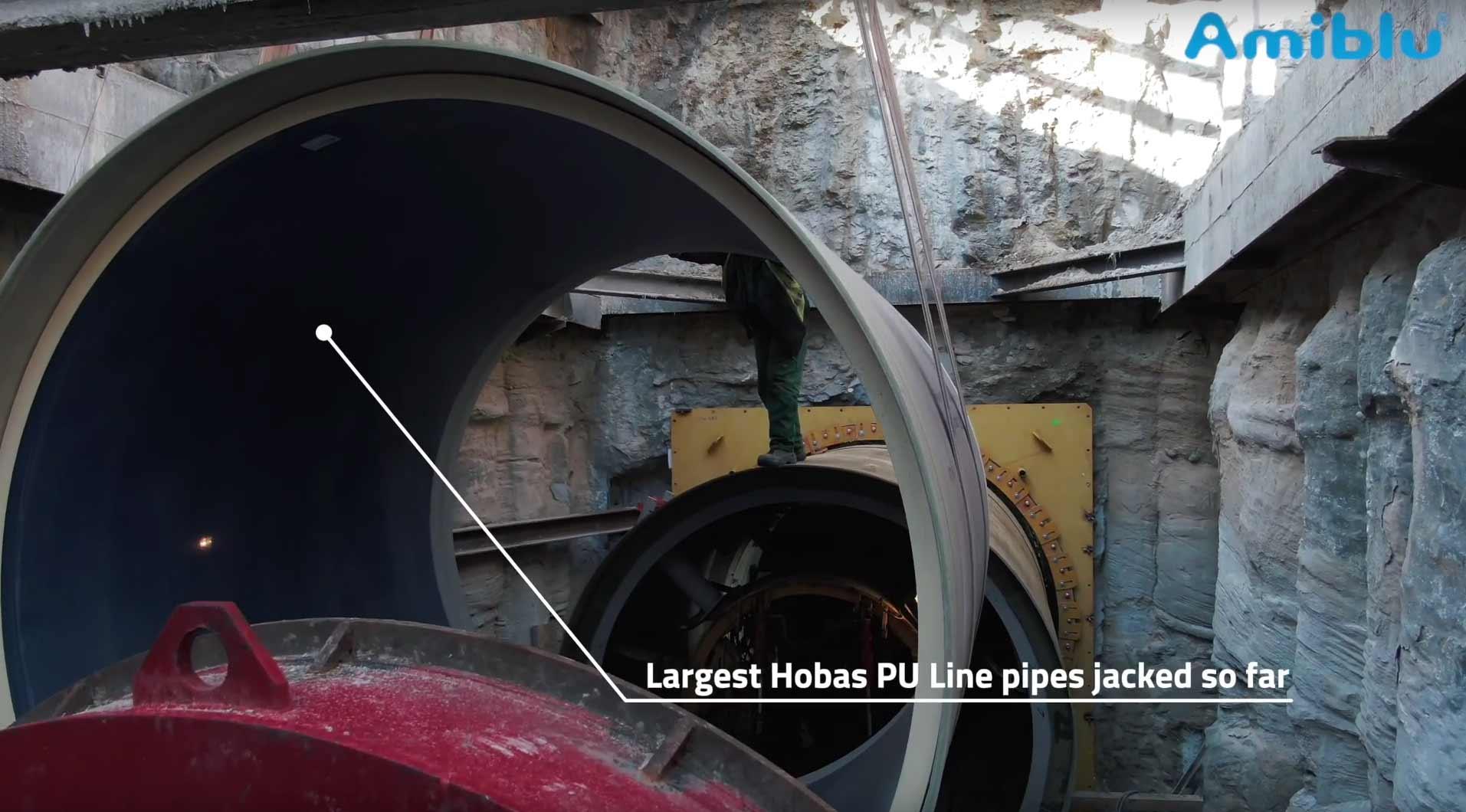 Hobas PU Line pipe jacking WWTP Czajka, Warsaw