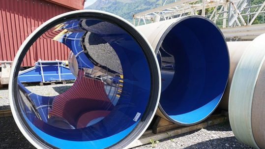 Hobas PU Line pipes by Amiblu in Lugano