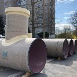 Hobas CC-GRP shafts for sewer rehab in Denmark