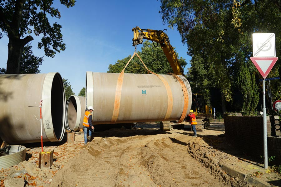 Hobas Stormwater retention pipes in Berg en Dal