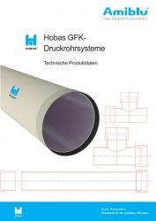 Hobas Technische Produktdaten - Druckrohrsysteme