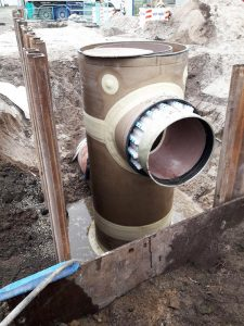 Hobas double pipe system for manhole