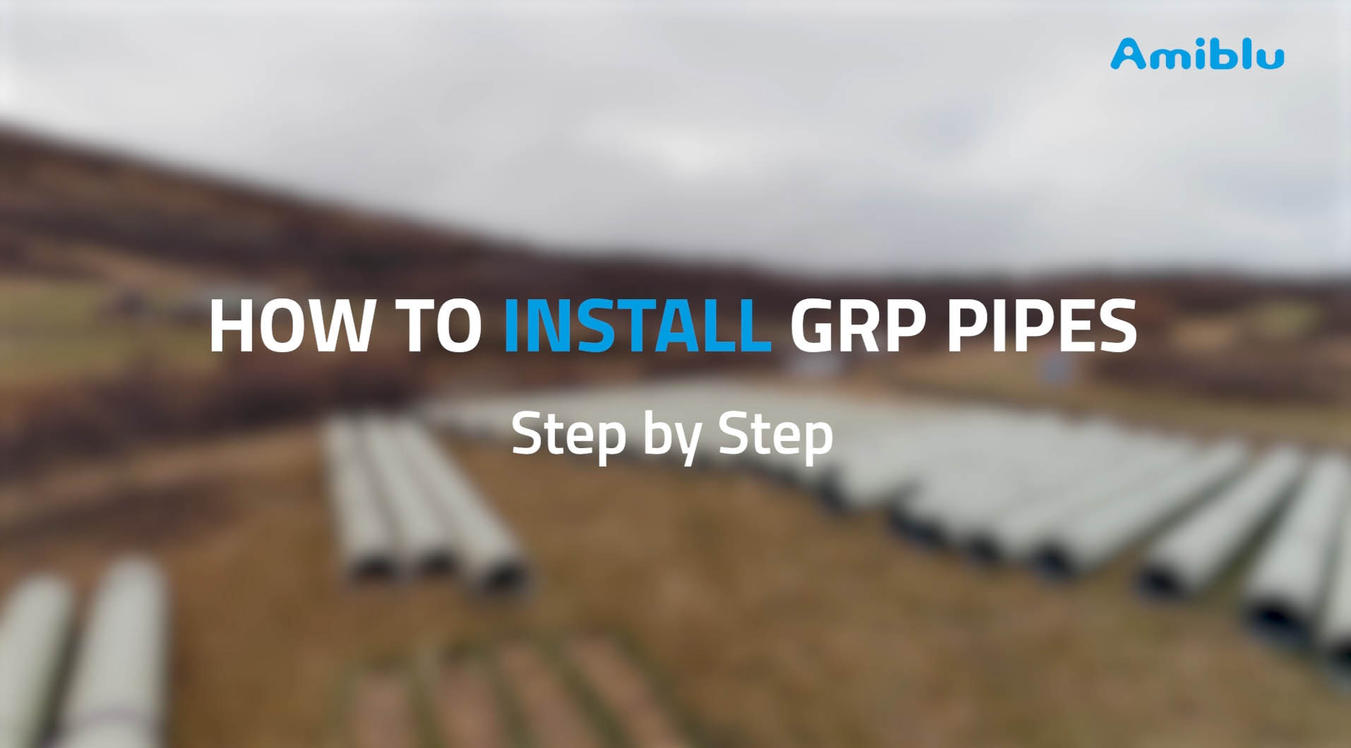 How to install GRP pipes step by step