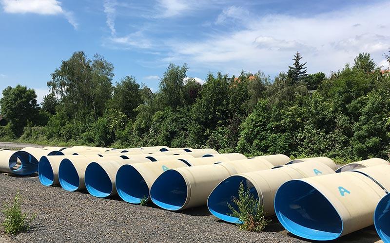 non-circular GRP pipes by Amiblu