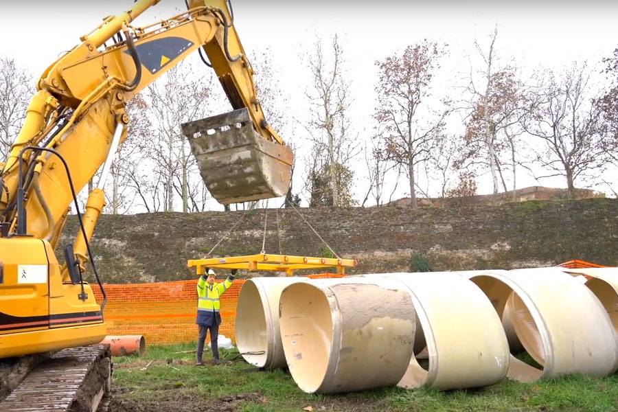 Amiblu NC Line pipes in Piacenza, Italy