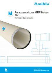 Rury przeciskowe GRP Hobas PN1 - Techniczne dane produktu