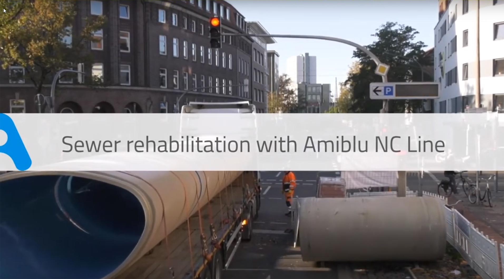 Sewer rehabilitation with Amiblu NC Line