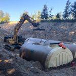 XL Hobas GRP storage tank DN 3000 installed in Austria